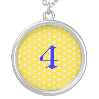 4,NUMBER, LETTER ON HONEYCOMB NECKLACES