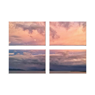 4 Panel - Heavenly Stormy Skies Gallery Wrap Canvas