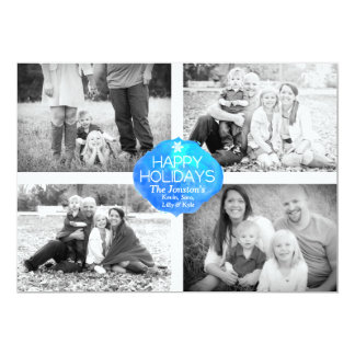 4 Photo Christmas Card - Happy Holidays