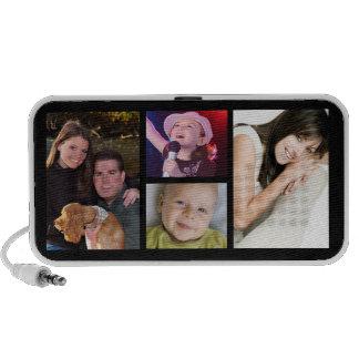4 Photo Collage Personalized Desktop Speaker