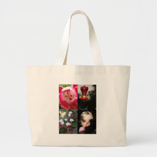 4 pic poster with name tote bag