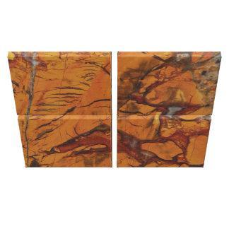 4 Piece Quad Red Jasper and Quartz Photo Print Canvas Print