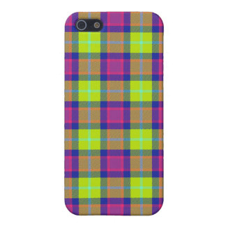 4 * - Plaid Purple / Blue / Lime iPhone 5/5S Cover