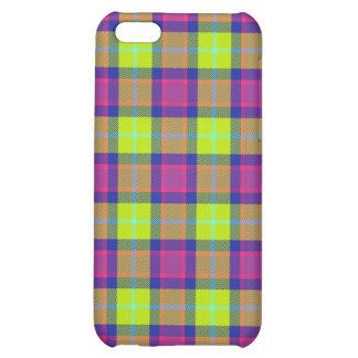 4 - Plaid Purple Blue Lime Case For iPhone 5C