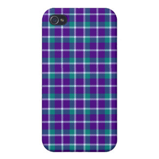4 * - Plaid Purple / Teal iPhone 4/4S Cases
