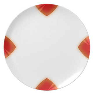 4 Point Red Chrome Wedge Plates