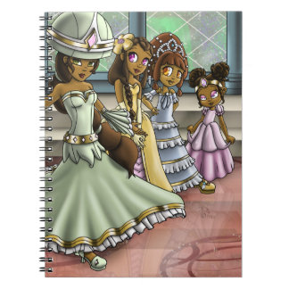 """4 Princesses"" Notebook"