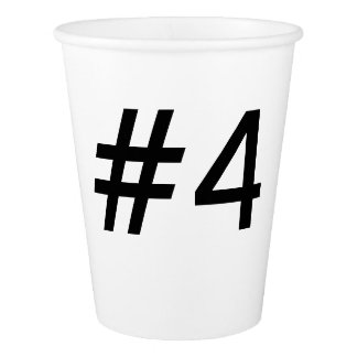 #4 range - paper cup