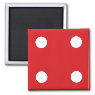 4 Red Dice Magnet