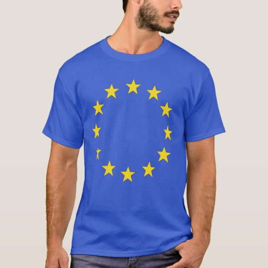 4 Royal blue EU stars front/ 28 nations