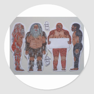4 Sagittal crest bigfoot, Classic Round Sticker