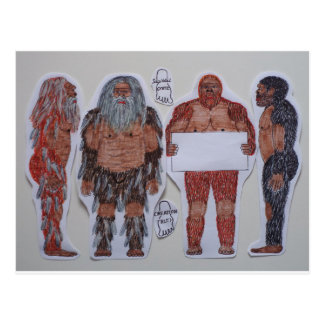 4 Sagittal crest bigfoot, Postcard