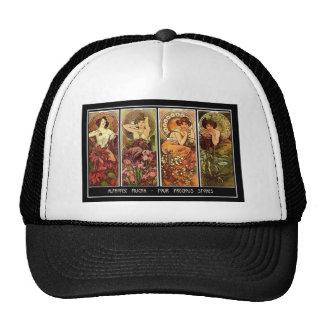 4 Seasons Alphonse Mucha Hat