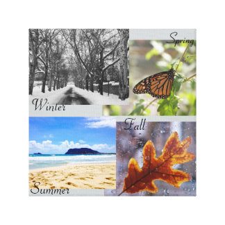 4 Seasons Canvas Stretched Canvas Print