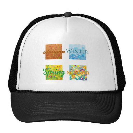 4 Seasons. Graphics and colors! Trucker Hat