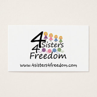 4 Sisters 4 Freedom Business Card