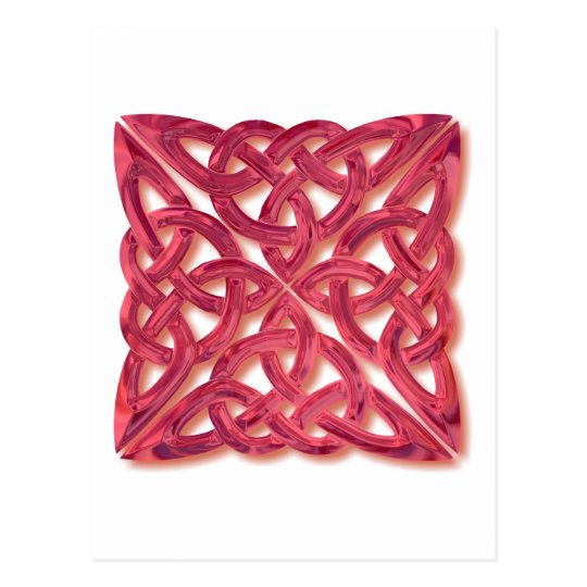 4 square-red glass postcard