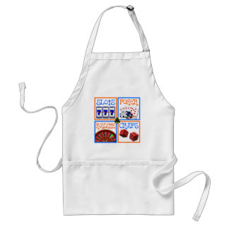 4 SQUARES OF GAMING ADULT APRON