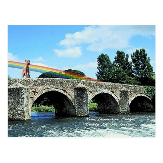 4. Stone Bridge Crossing River Kildare Ireland Postcard