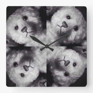 4 teddy clock