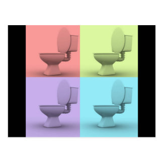 4 Toilets Postcard