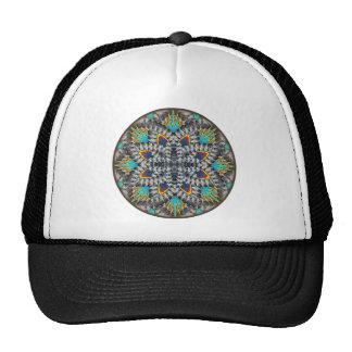4 Waves Illusion Round Hats