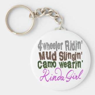 4 wheeler ridin mud slingin camo wearin kinda girl key ring