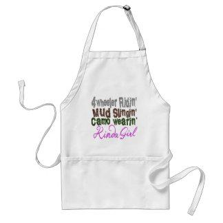 4 wheeler ridin mud slingin camo wearin kinda girl standard apron