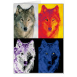 4 Wolf Faces