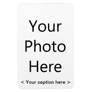 """4""""x6"""" Portrait Photo Magnet (Black Text)"""