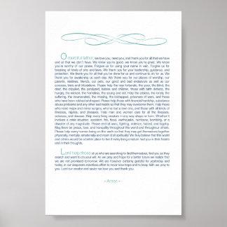 "4""x6"" Prayer of Hope written by Boston EMT - $7.90 Poster"
