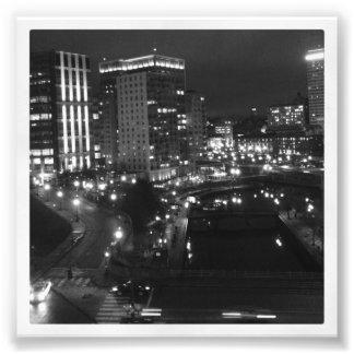 "4"" x 4"" Instagram Print: City at Night Photo"