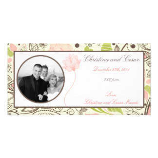 4 x 8 Engagement Photo Announcement Spring Pink/Gr Photo Cards