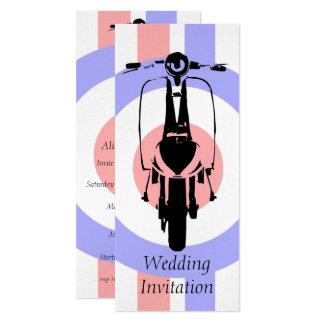4 x 9 Sixties Scooter Wedding Invitations