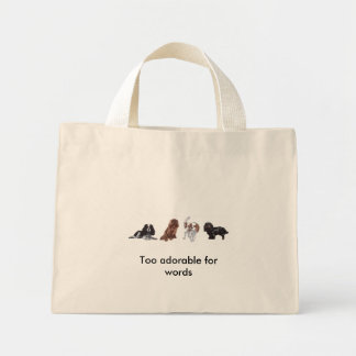 4 x King Charles Cavalier Spaniel Tote bag