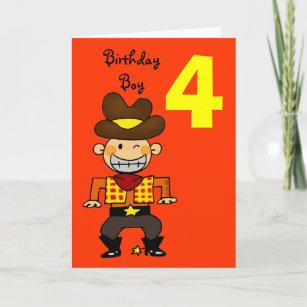 4 Year Old Birthday Boy Card