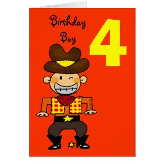 4 year old birthday boy greeting card
