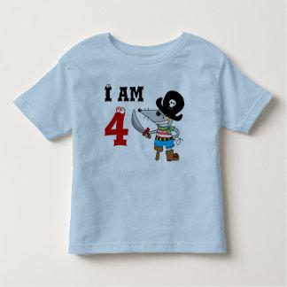 4 year old pirate birthday boy toddler T-Shirt