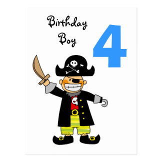 4 year old pirate boy post cards