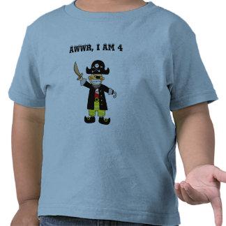 4 year old pirate boy shirt