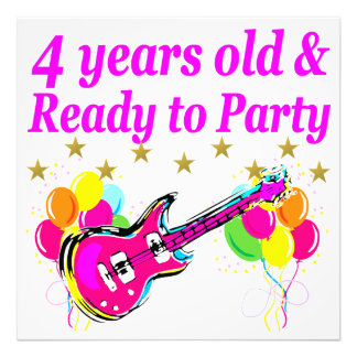 4 YEAR OLD ROCK STAR BIRTHDAY PARTY PHOTOGRAPH