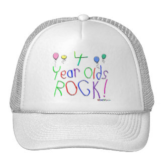 4 Year Olds Rock ! Cap