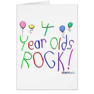 4 Year Olds Rock! Greeting Card
