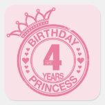 4 years - Birthday Princess - pink