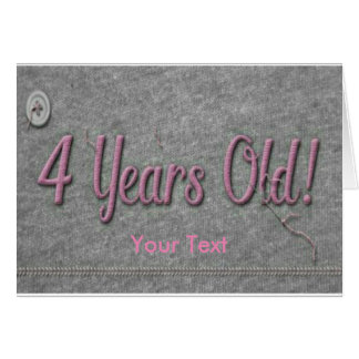 4 Years Old Card