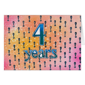4 Years Sobriety Birthday / Anniversary Card