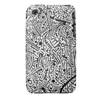 4B Psyart texture iPhone 3 Covers