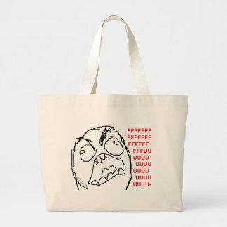 4chan Rage Guy Jumbo Tote Bag