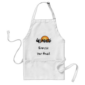 4Jaded Apron Standard White w/Text