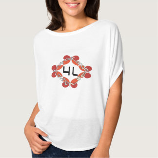 4L- Living Large Loving Life - Butterfly Tshirts